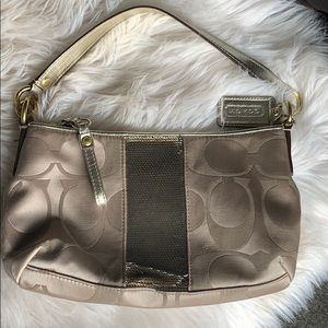 Coach Bag | Authentic Coach Bag | Gold